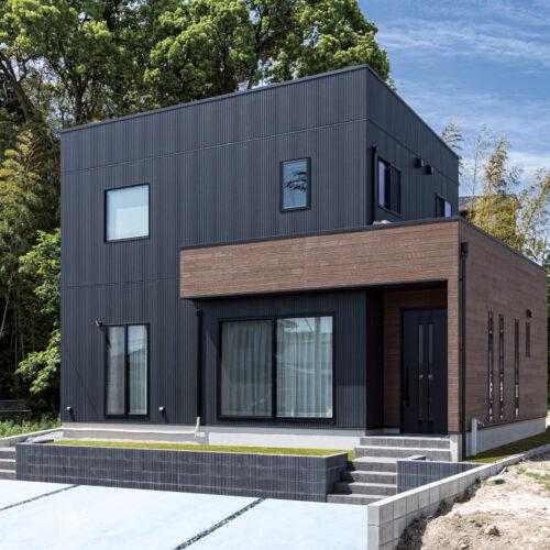 デザイン性の高いおしゃれな2階建ての家